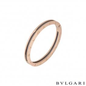 Bvlgari Rose Gold Black Ceramic B.zero1 Bracelet 351417